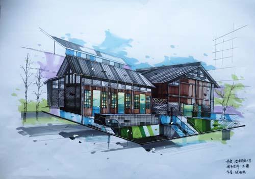 城建学子手绘